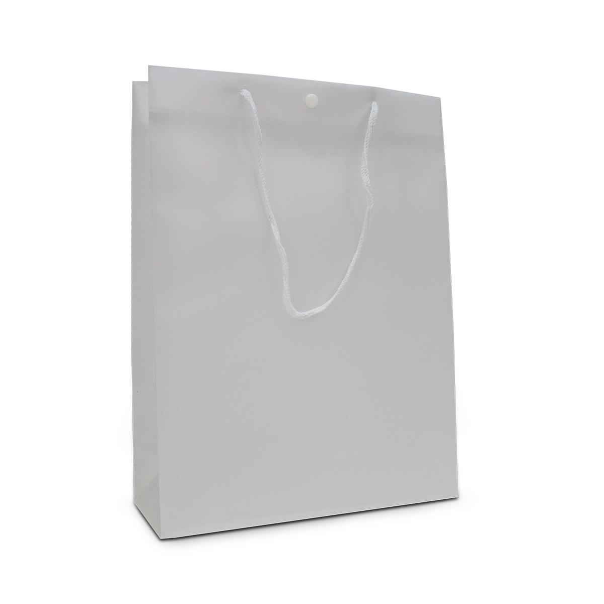 Luxe plastic tassen met drukknoop