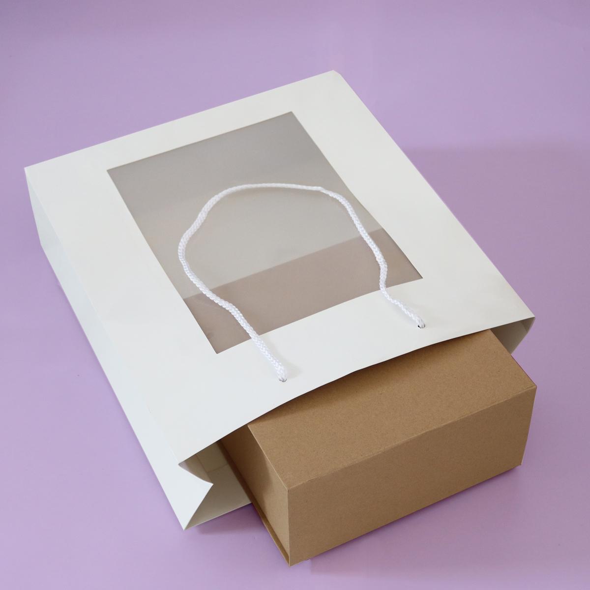 Luxe papieren tassen met A4 insteekvenster