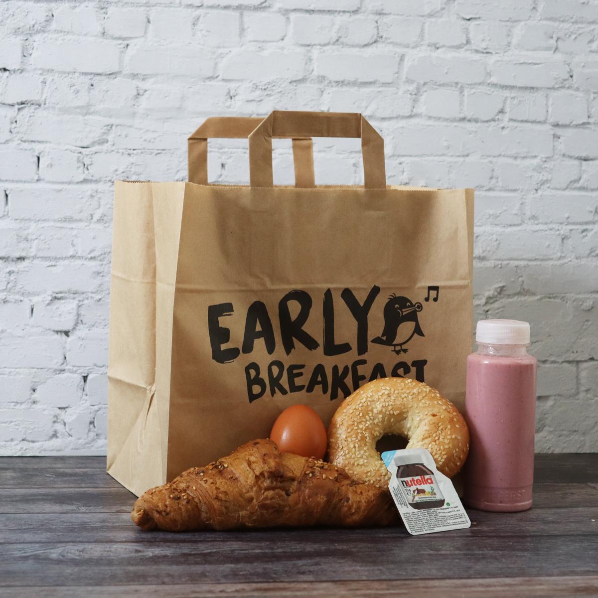 Papieren take away tassen - Early breakfast