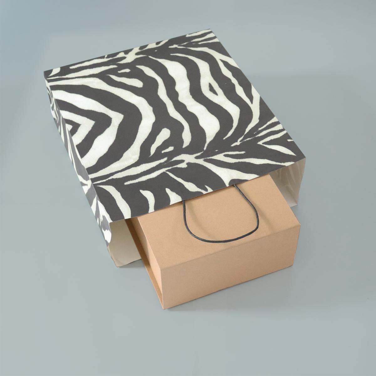 Twisted papieren tassen - Zebra