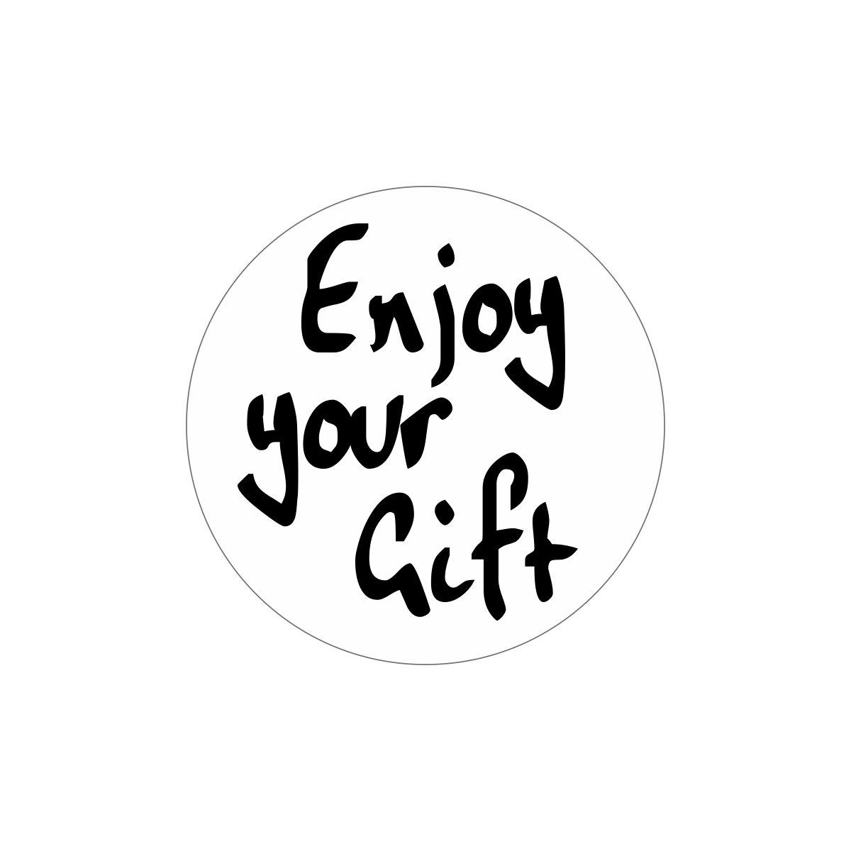 Etiketten - Enjoy your gift