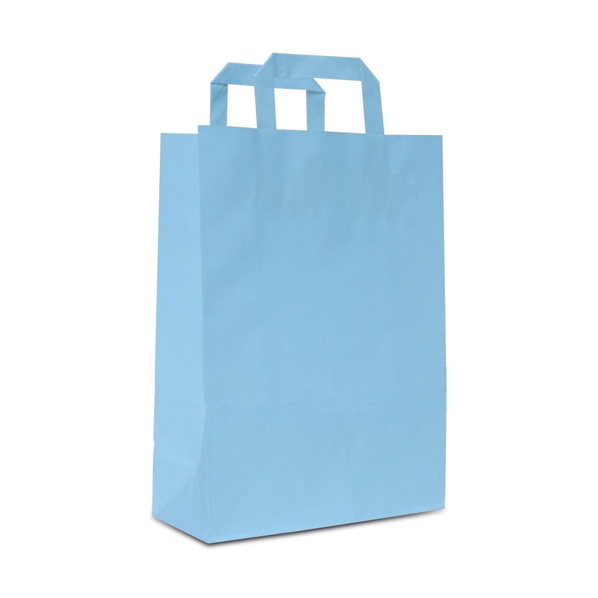 Budget papieren tassen met platte lussen