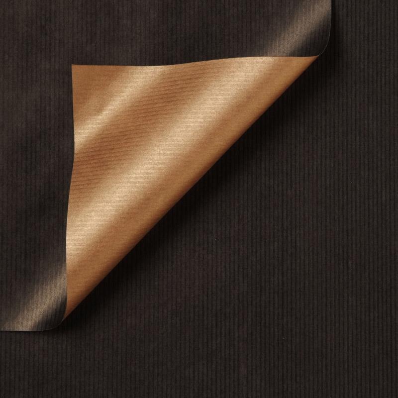 Gestreept inpakpapier - Zwart/goud
