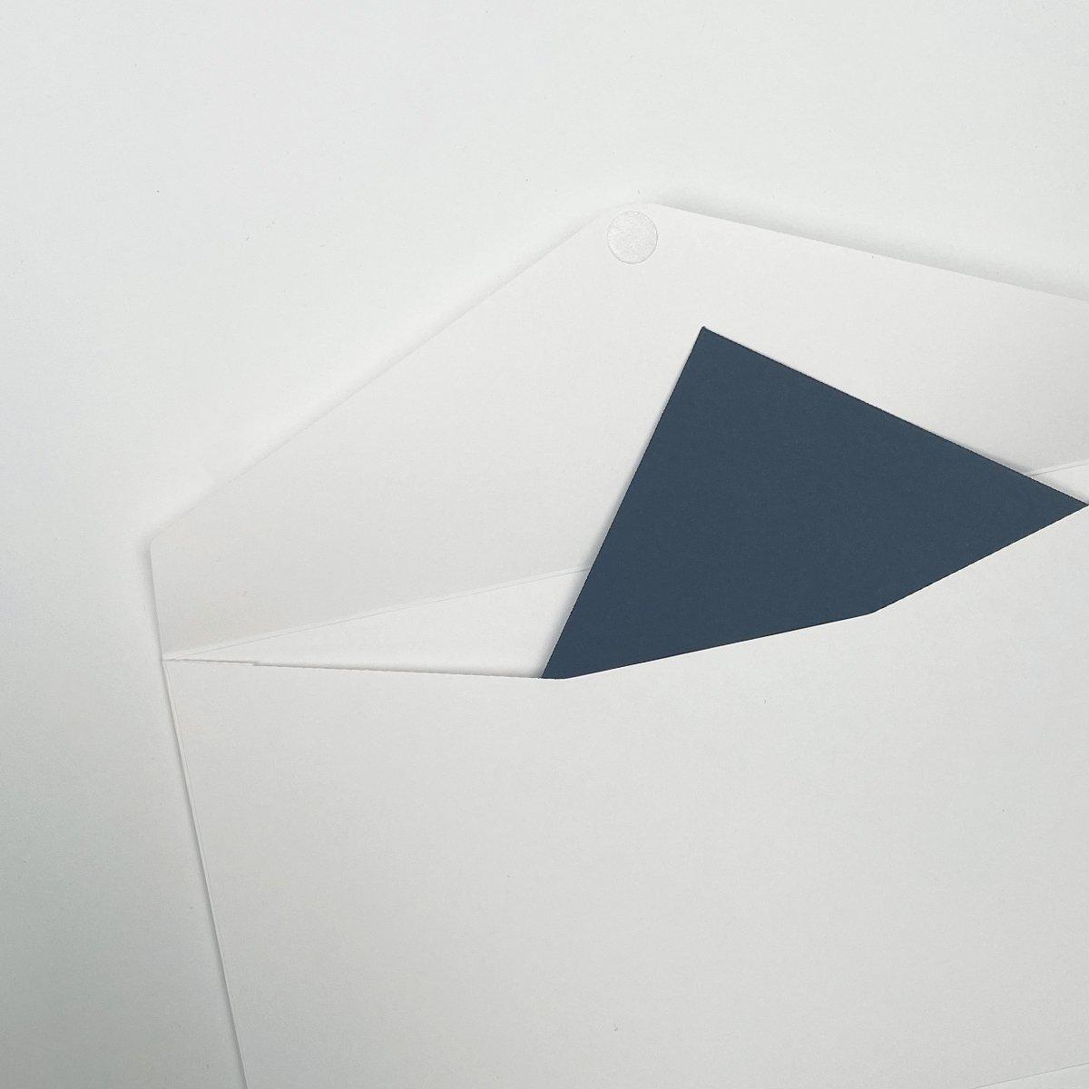 Papieren paklijstenveloppen met klepsluiting