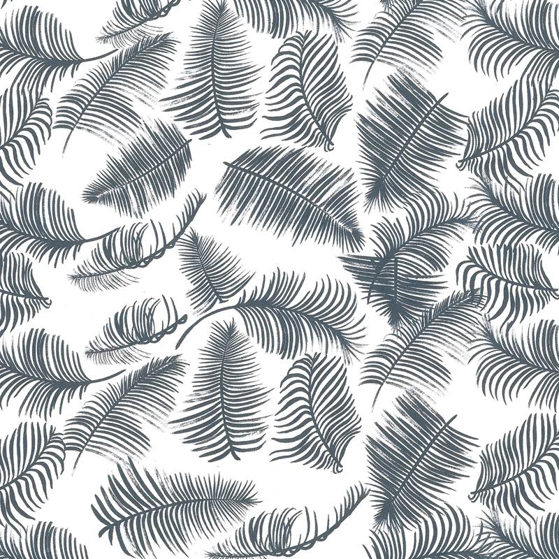 Wit kraft inpakpapier - Veertjes dessin