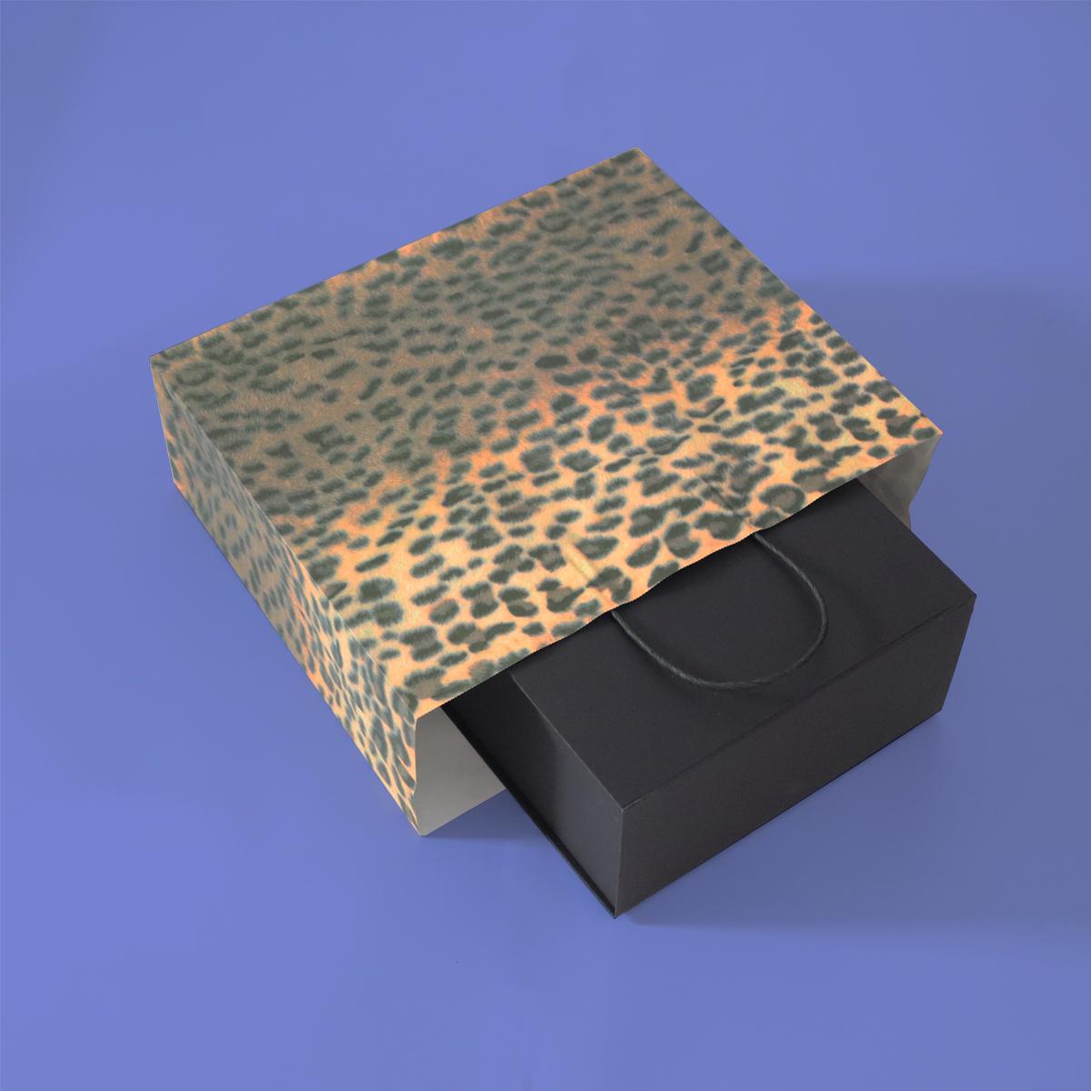 Twisted papieren tassen - Panter