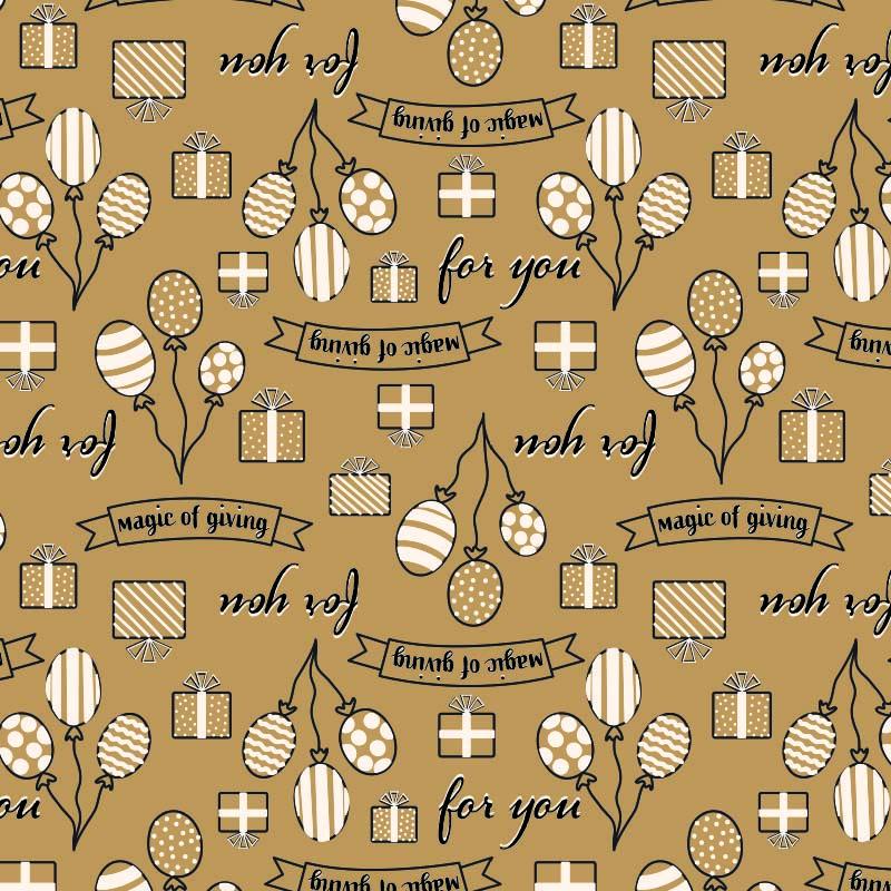 Bruin inpakpapier - Kado dessin