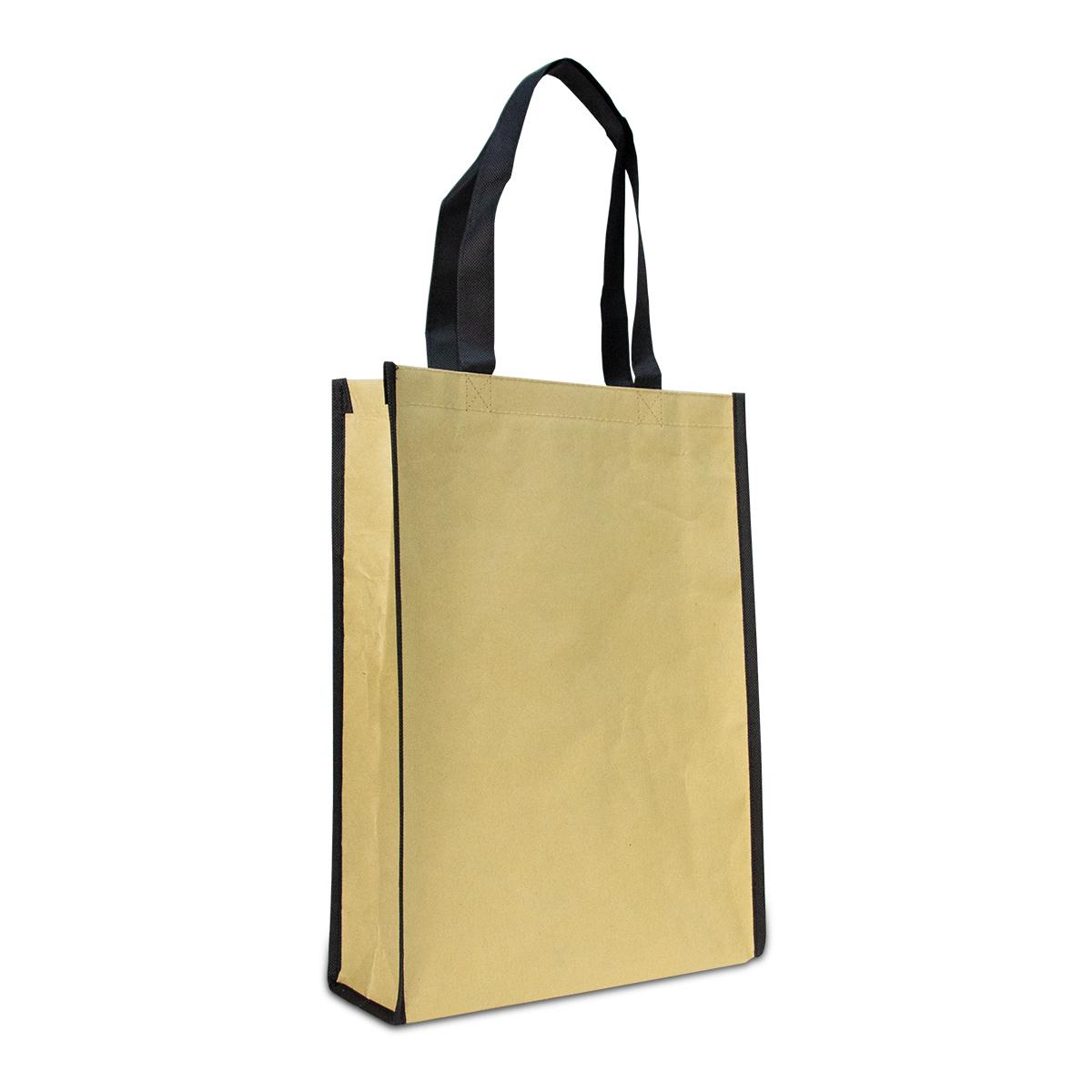 Luxe ecologische papieren tassen met non-woven binnenvoering