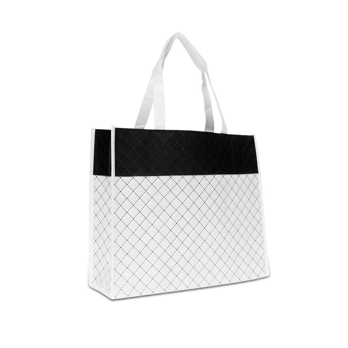 Luxe non-woven diamant shoppers