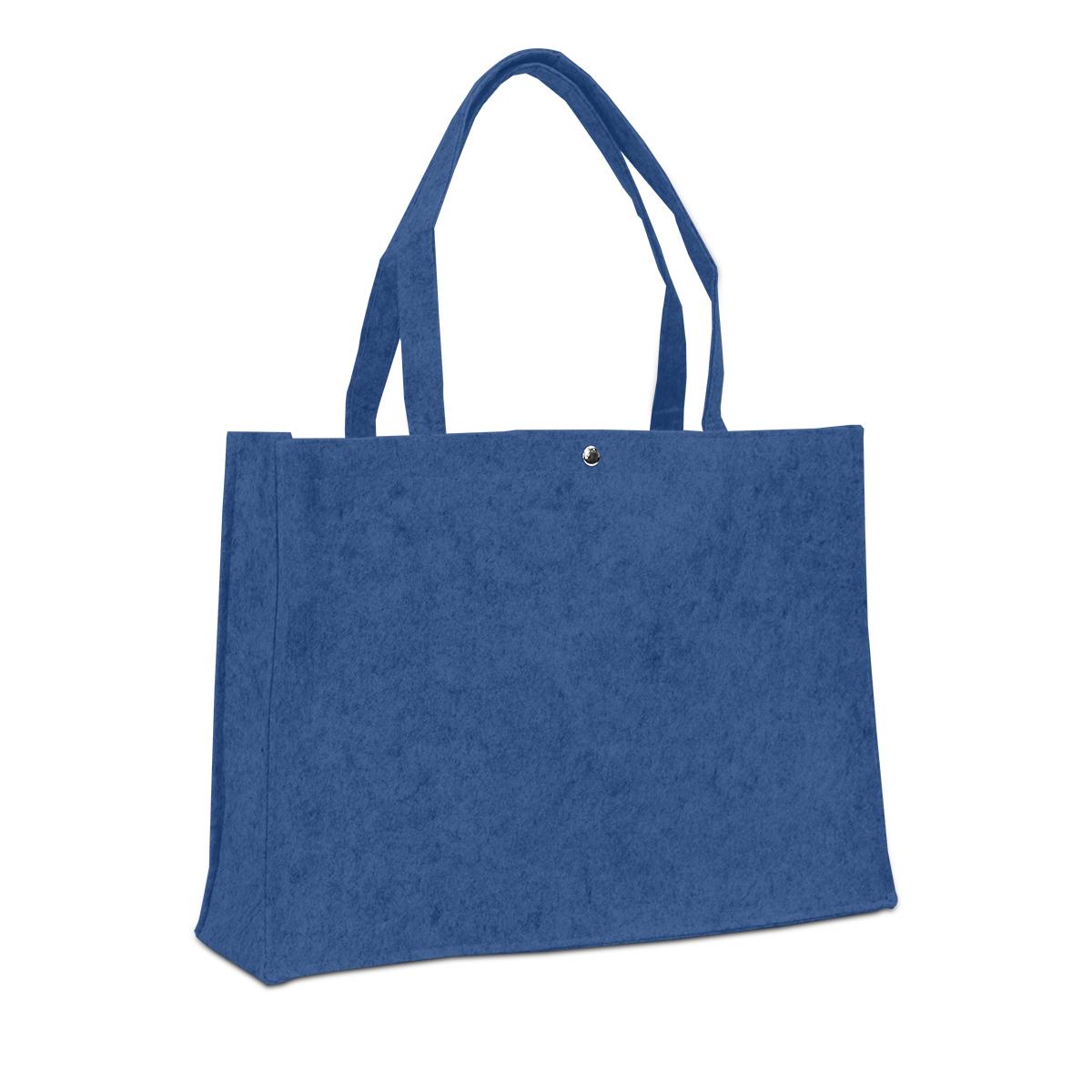 Vilten tassen met drukknoop