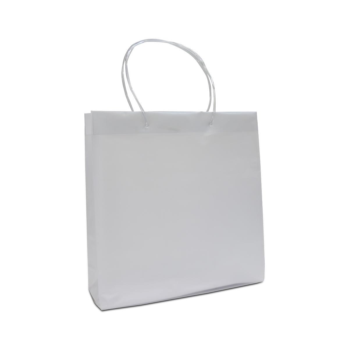 Luxe plastic tassen met tube koorden