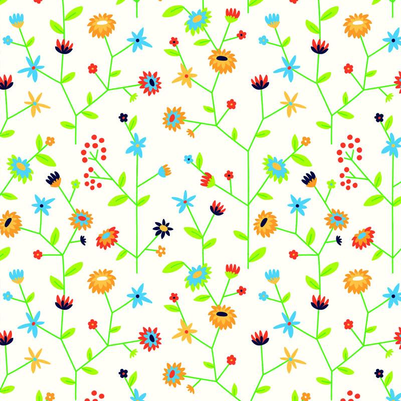 Gras inpakpapier - Bloemen dessin