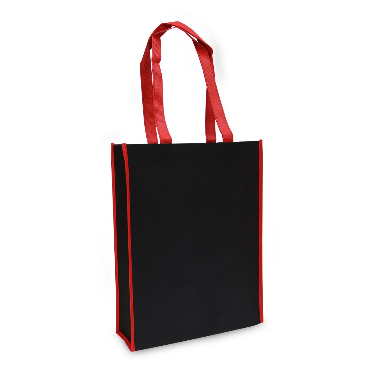 Non-woven shoppers - Rood/zwart duotone