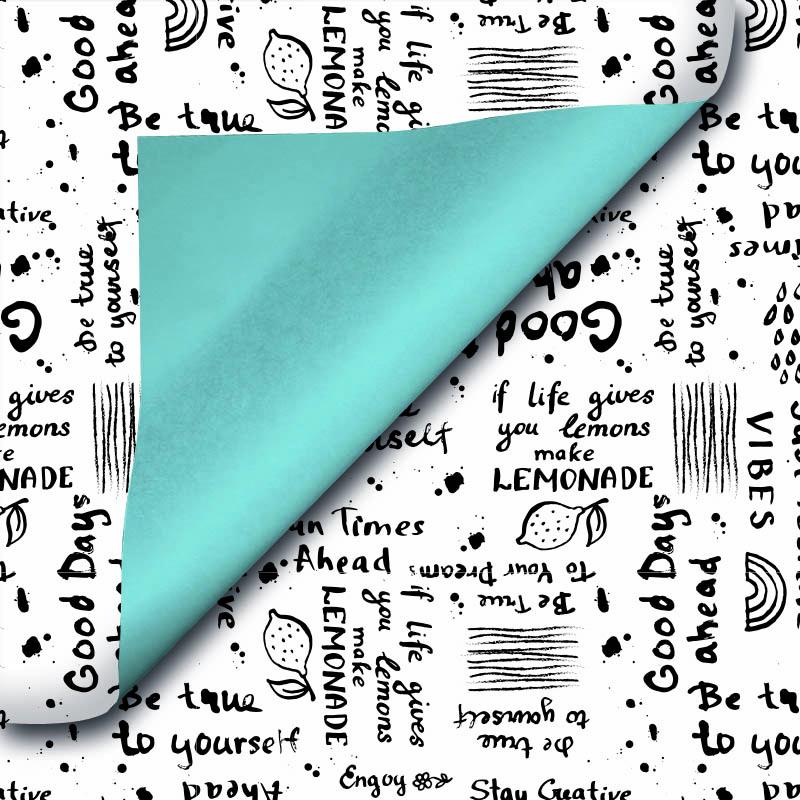 Wit kraft inpakpapier - Quote dessin