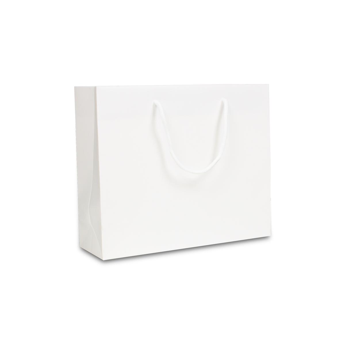 Luxe papieren tassen - Croco mat wit