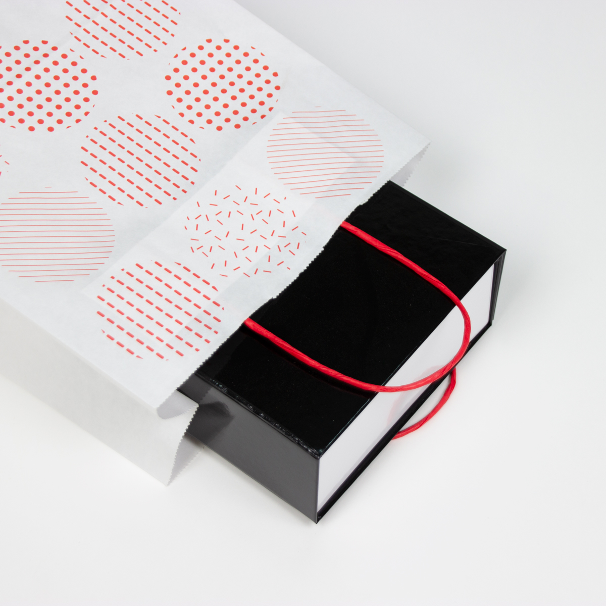 Twisted papieren tassen - Rondjes