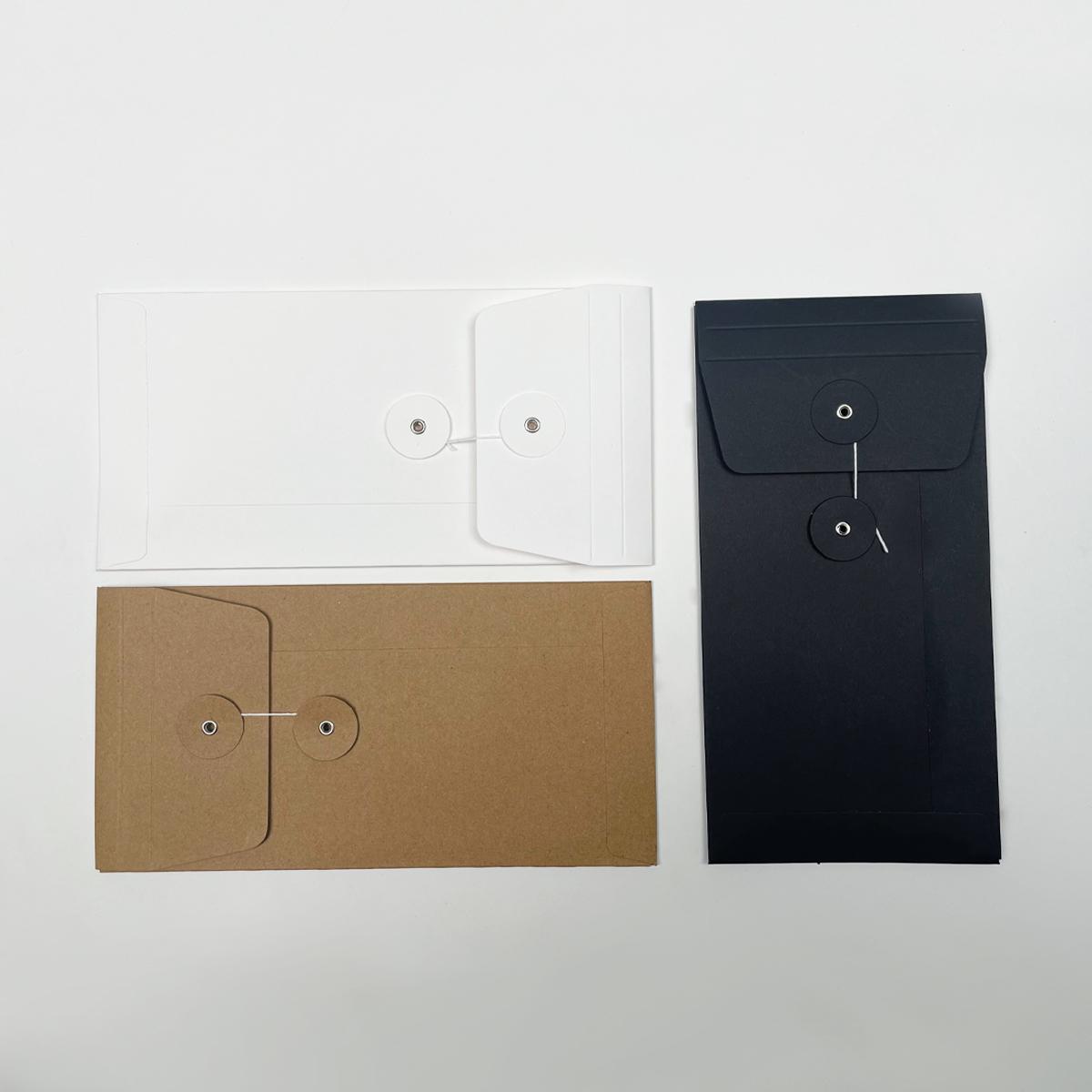 Papieren invoice holders met Japanse sluiting
