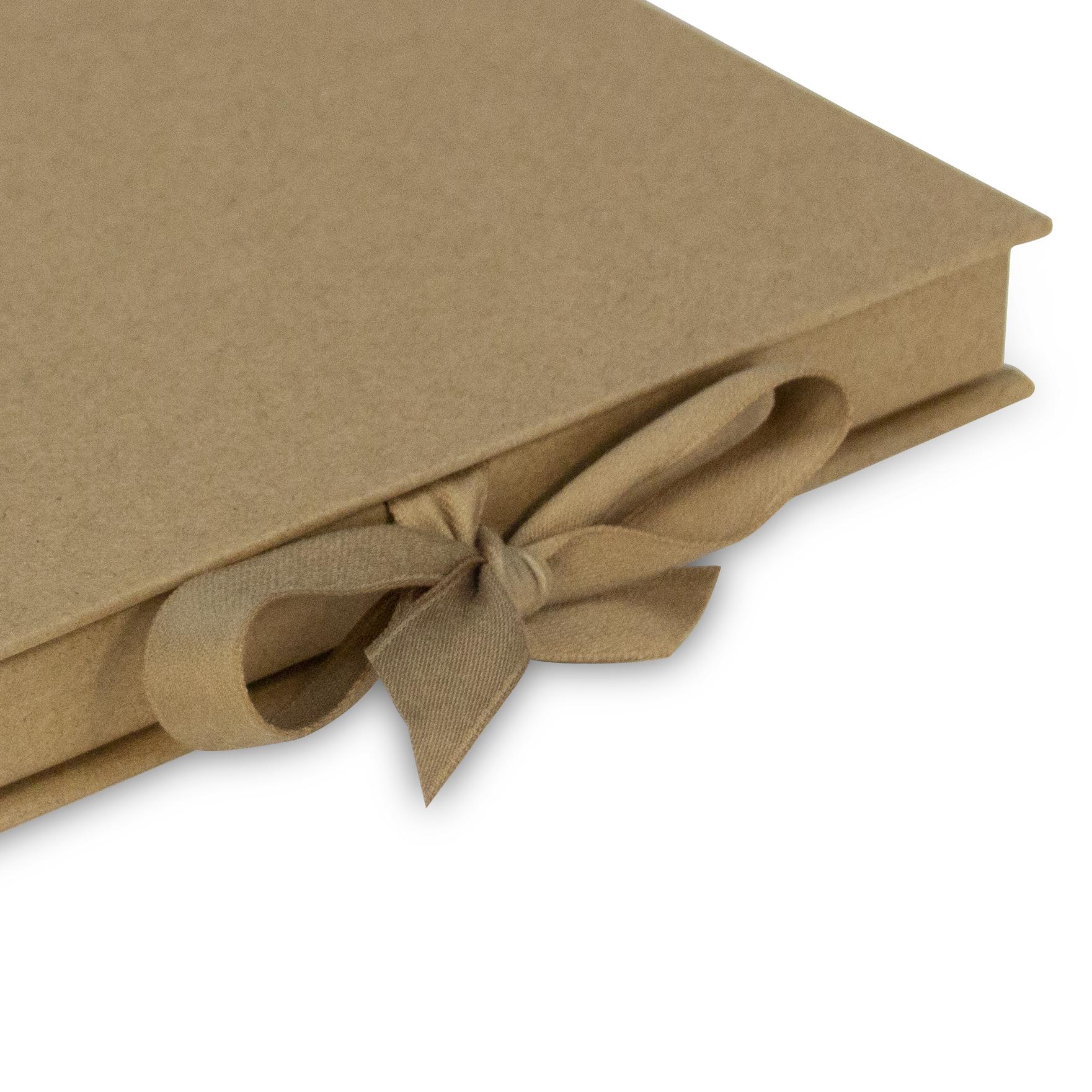 Giftcard doosjes met lintsluiting - Kraft