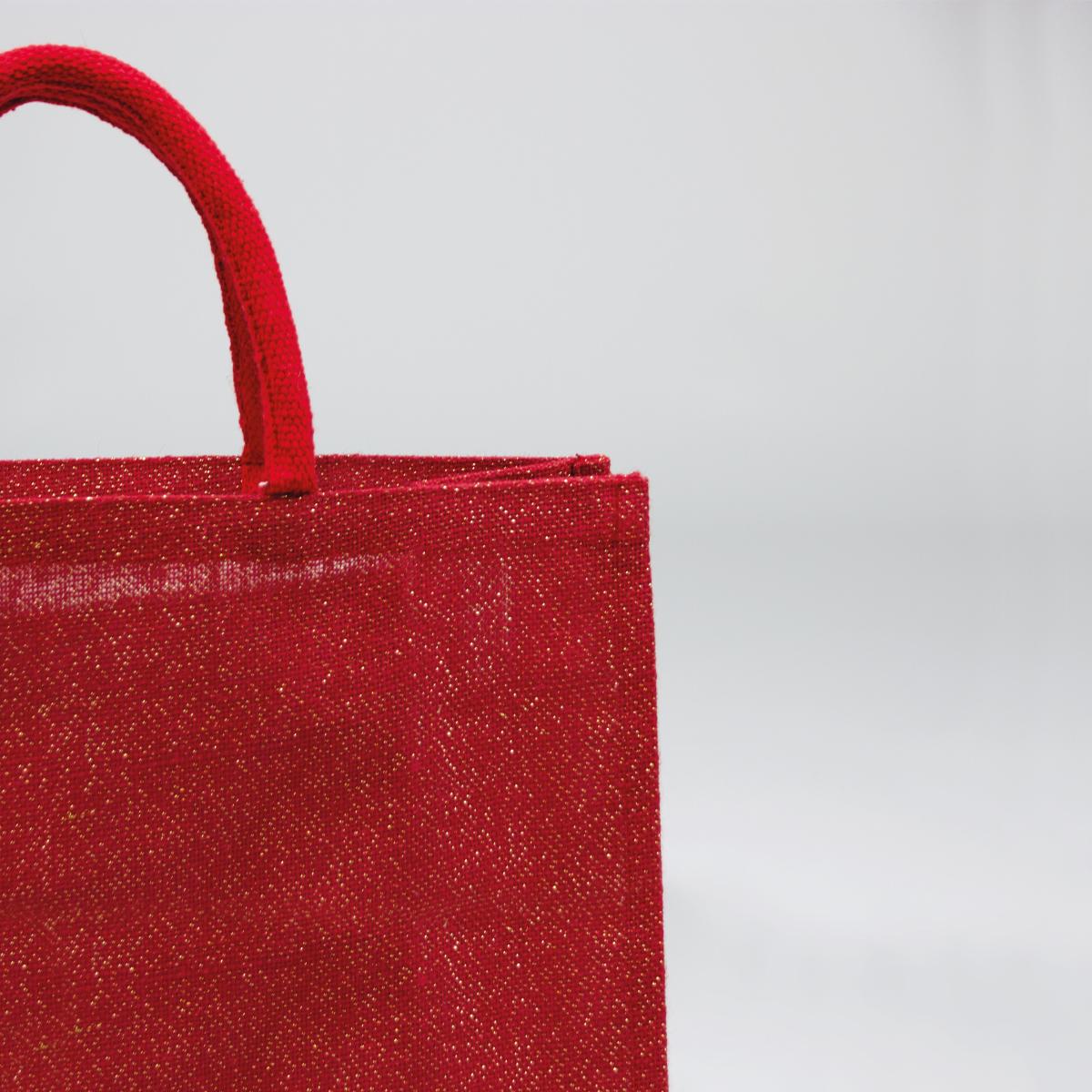Jute tas met glitters