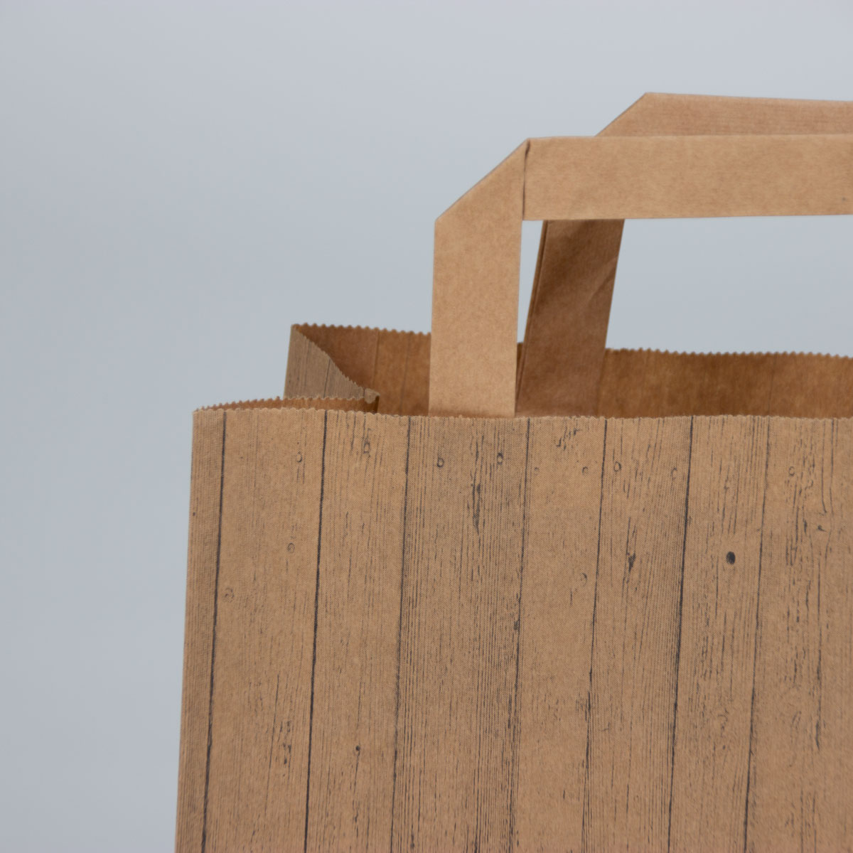 Kraft tassen FSC® - Houtstructuur