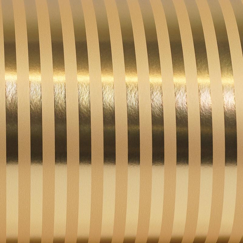 Metallic inpakpapier - Streep dessin