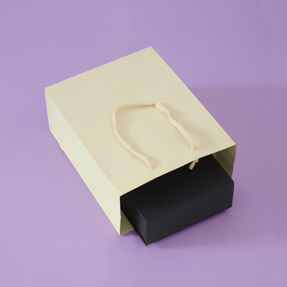 Luxe papieren tassen - Ivoor kraft