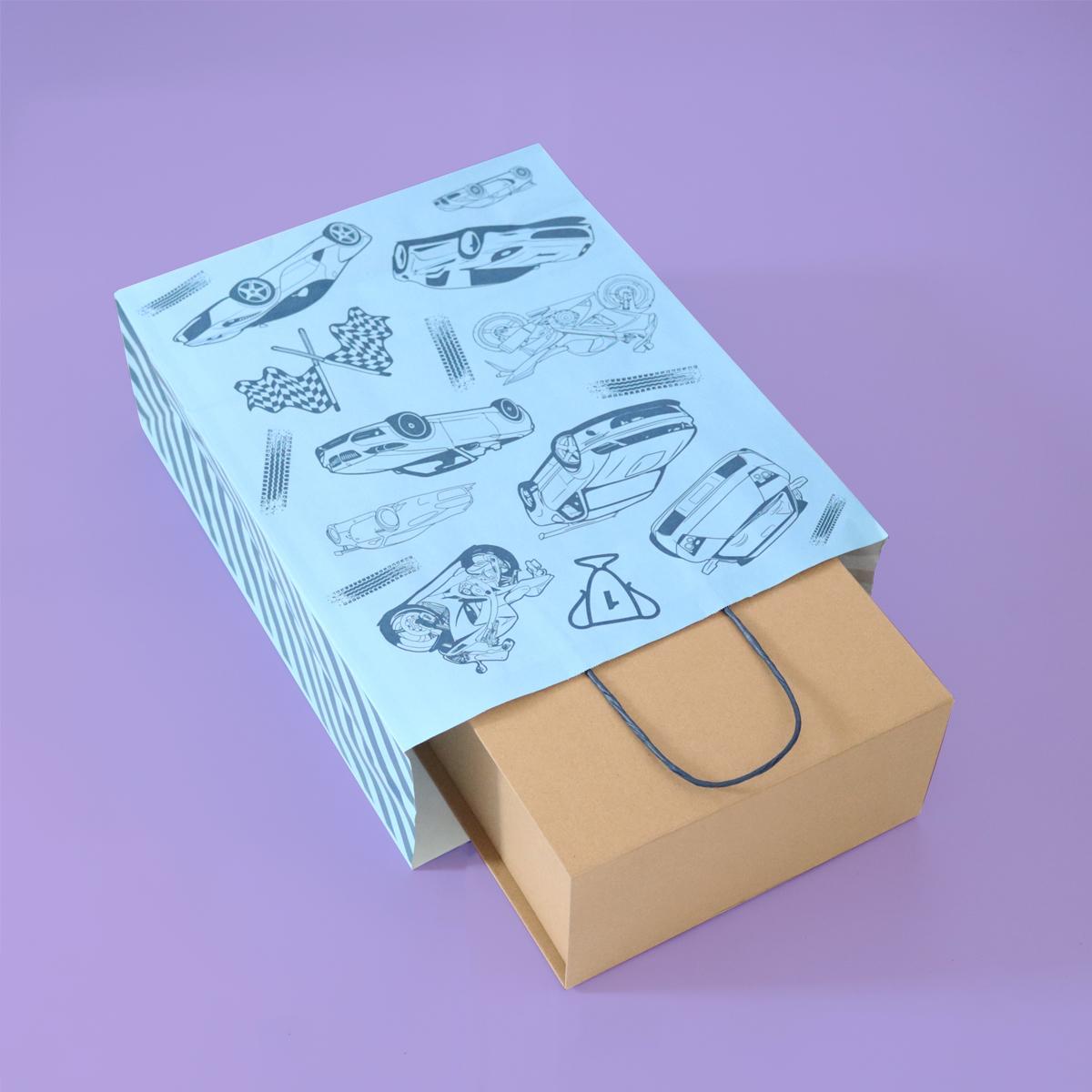 Twisted papieren tassen - Race