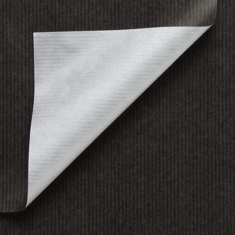 Gestreept inpakpapier - Zwart/zilver