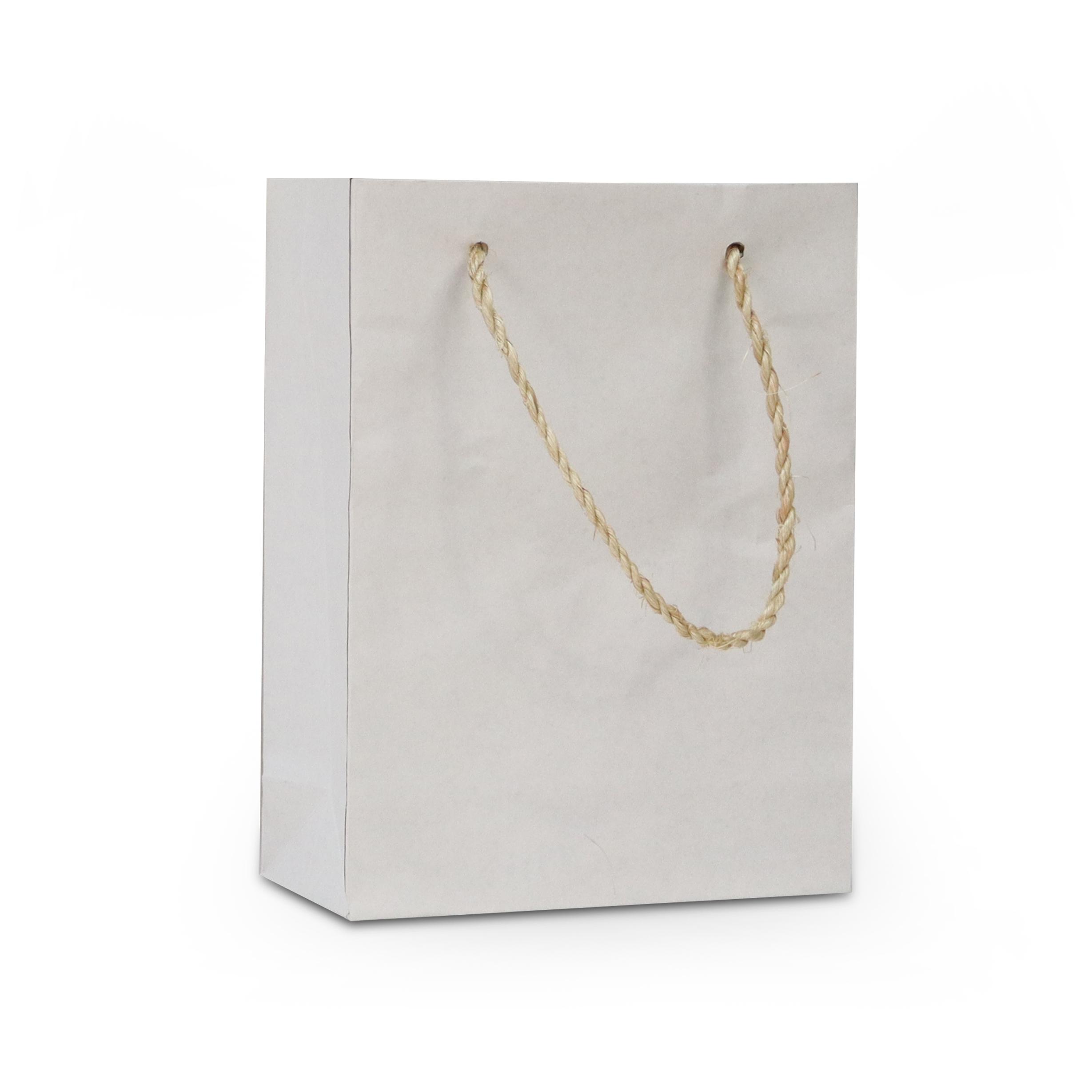 Luxe eco papieren duplex tassen met stro koorden