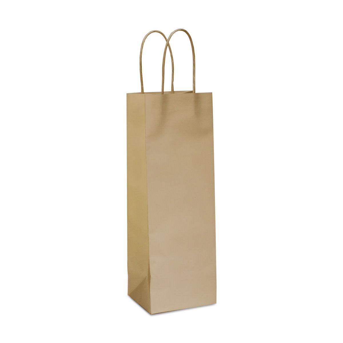 Twisted papieren kraft wijnflestassen