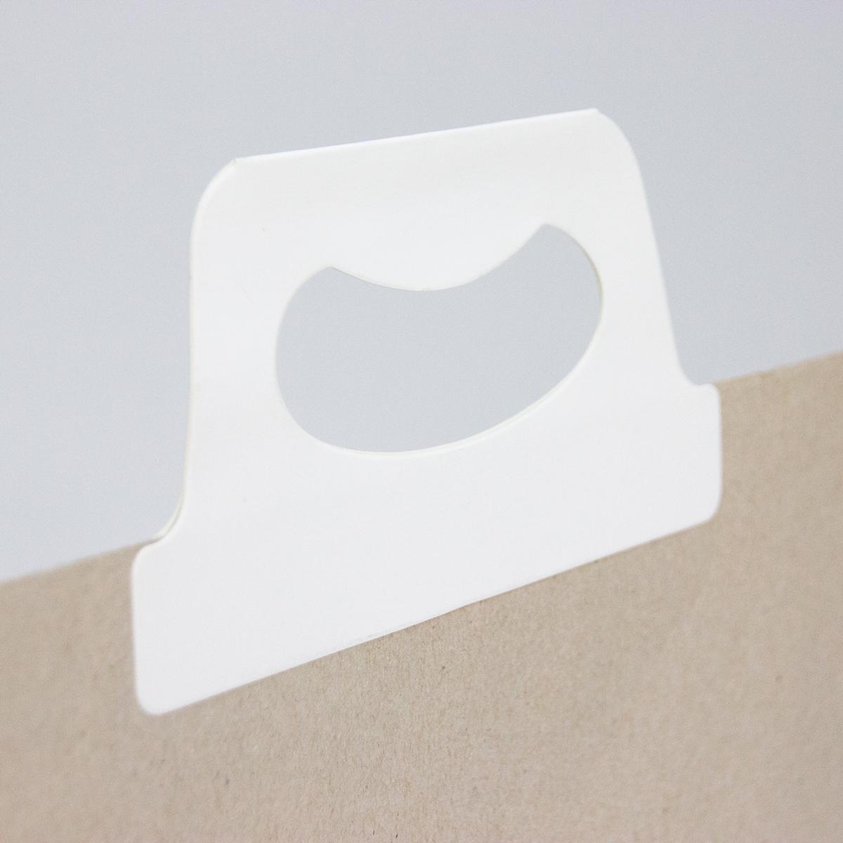 Gerecyclede papieren geschenktassen met klepsluiting