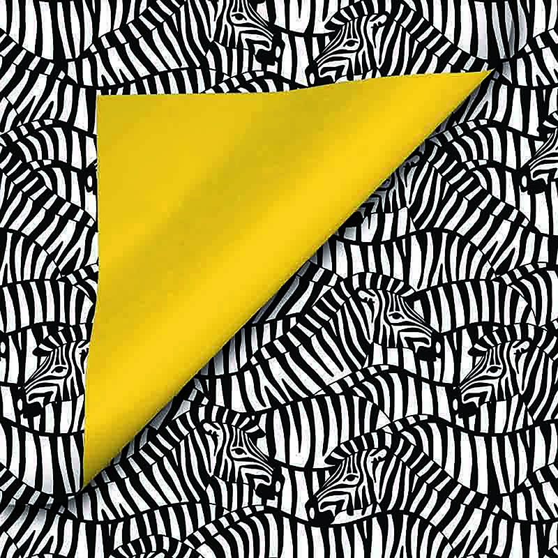 Coated inpakpapier - Zebra dessin