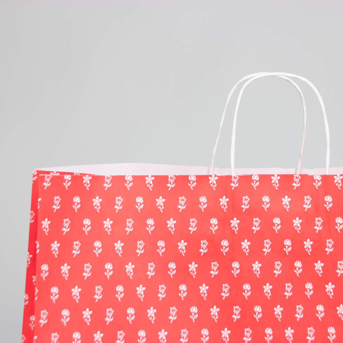 Twisted papieren tassen - Bloemen