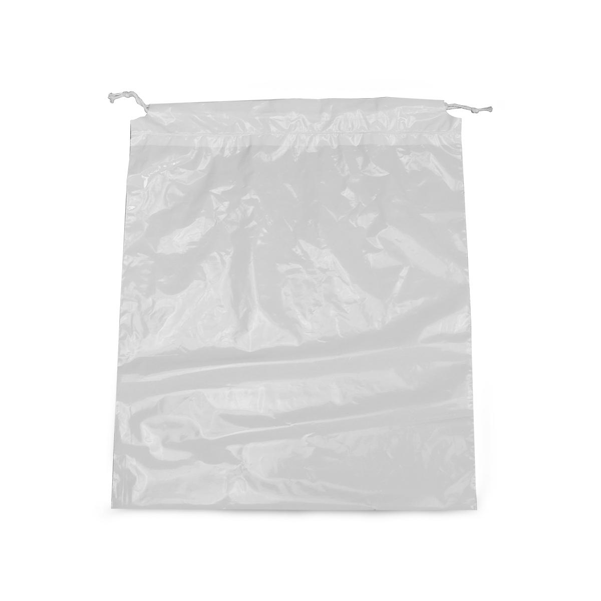 Plastic laundry bags met trekkoord