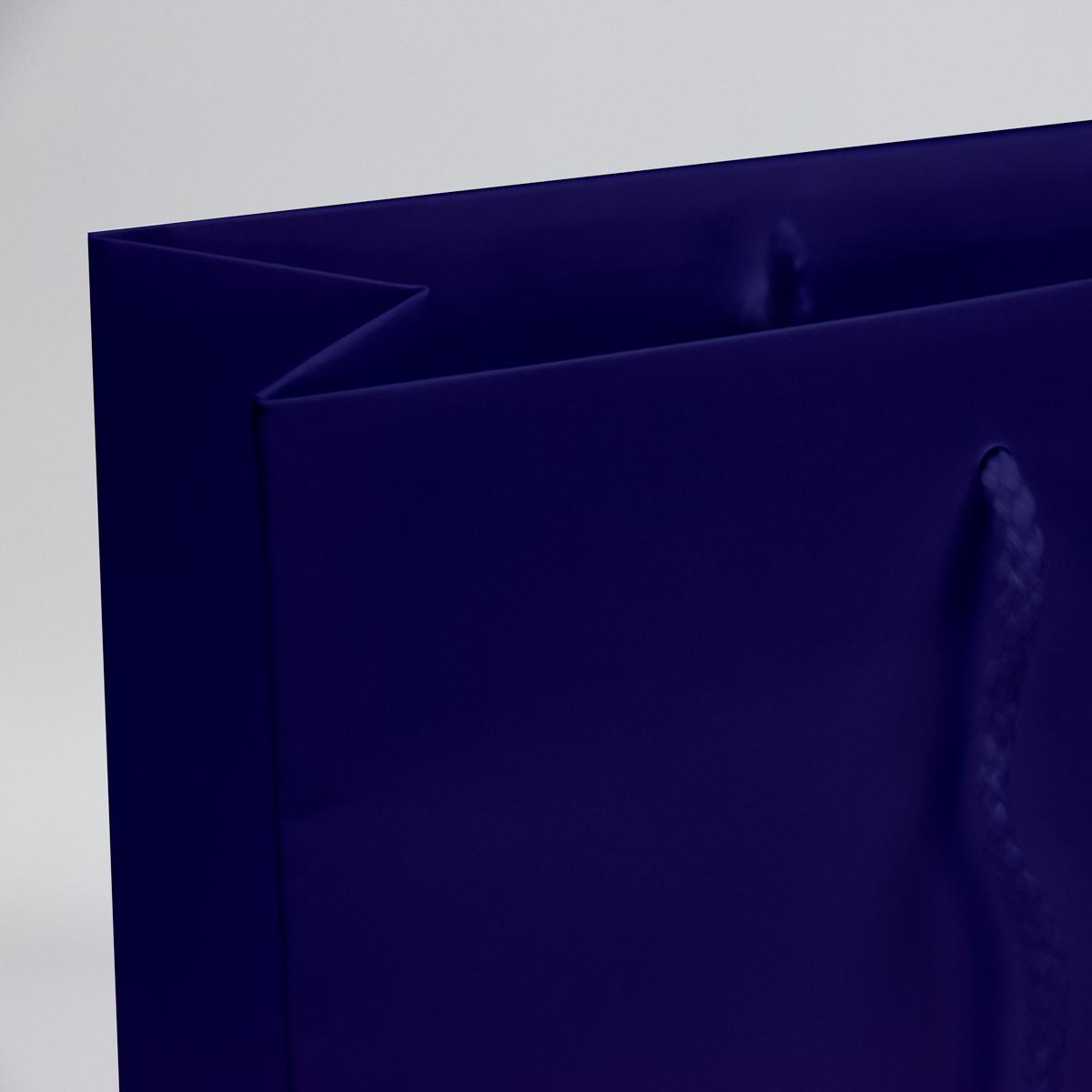 Luxe papieren tassen - Paars glanzend
