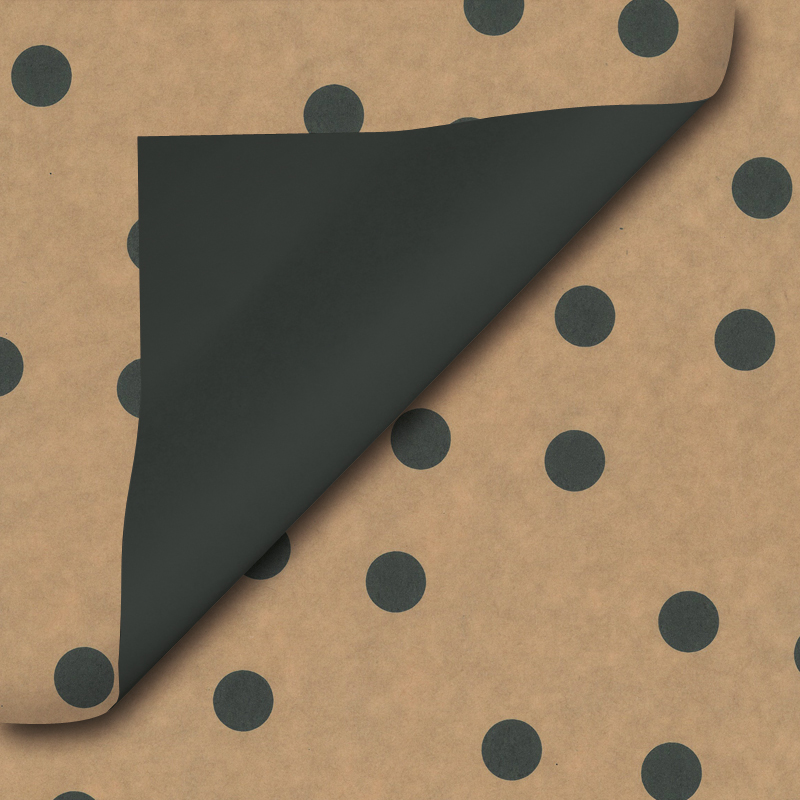 Bruin inpakpapier - Stip dessin