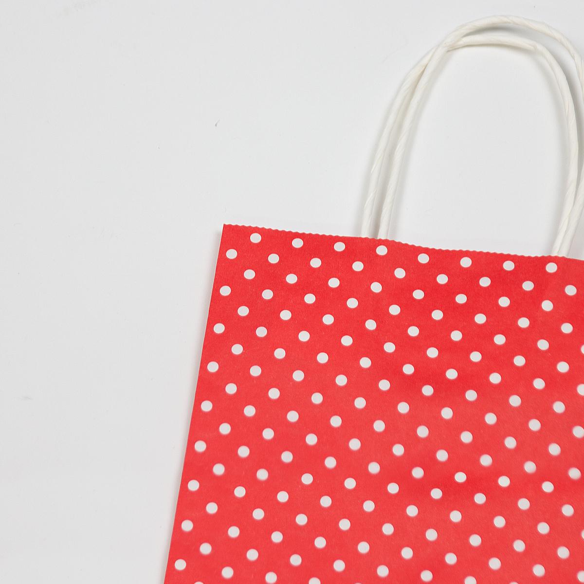 Twisted papieren tassen - Polka dot