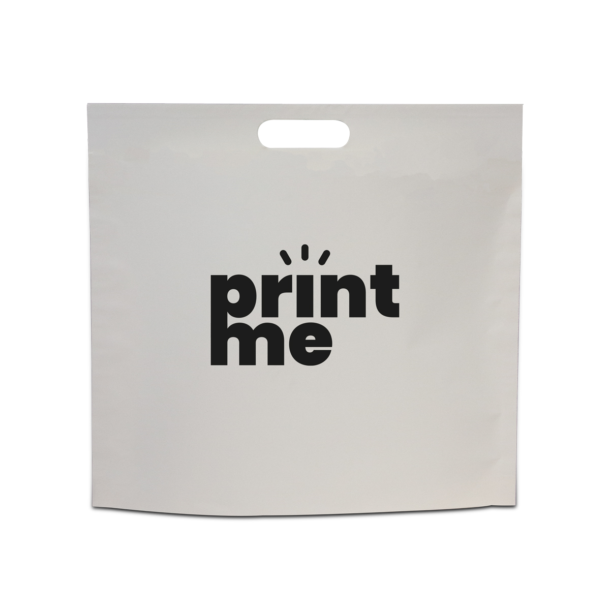 Budget papier tassen met uitgestanst handgreep