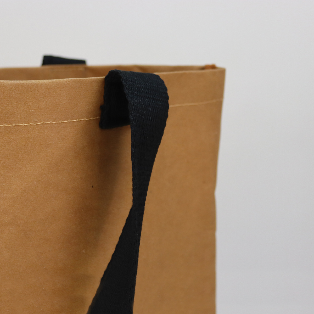 Washable paper tote bag