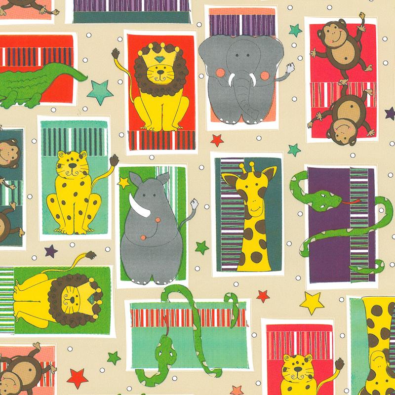 Coated inpakpapier - Safari dessin