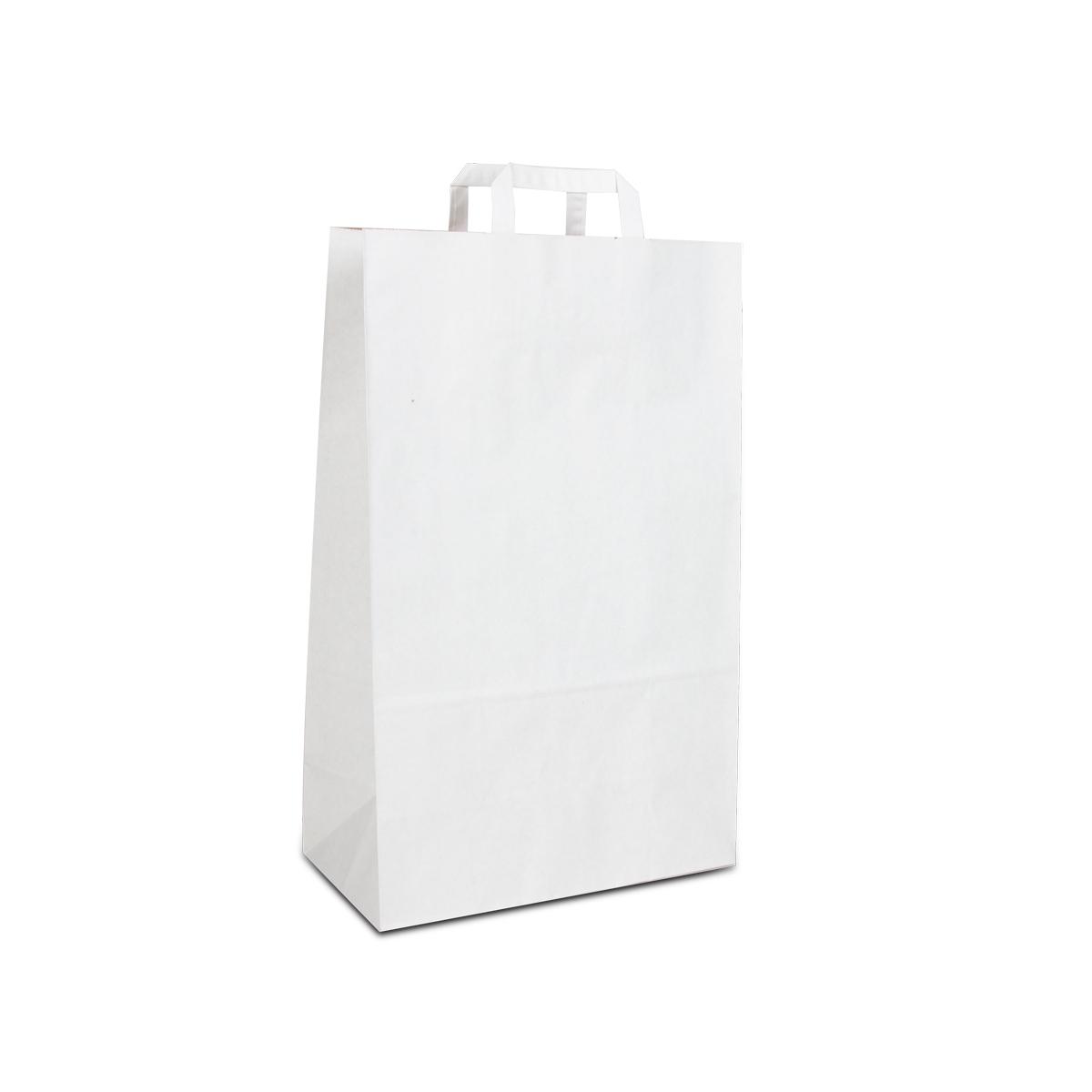 Budget papieren tassen - Wit/bruin duplex