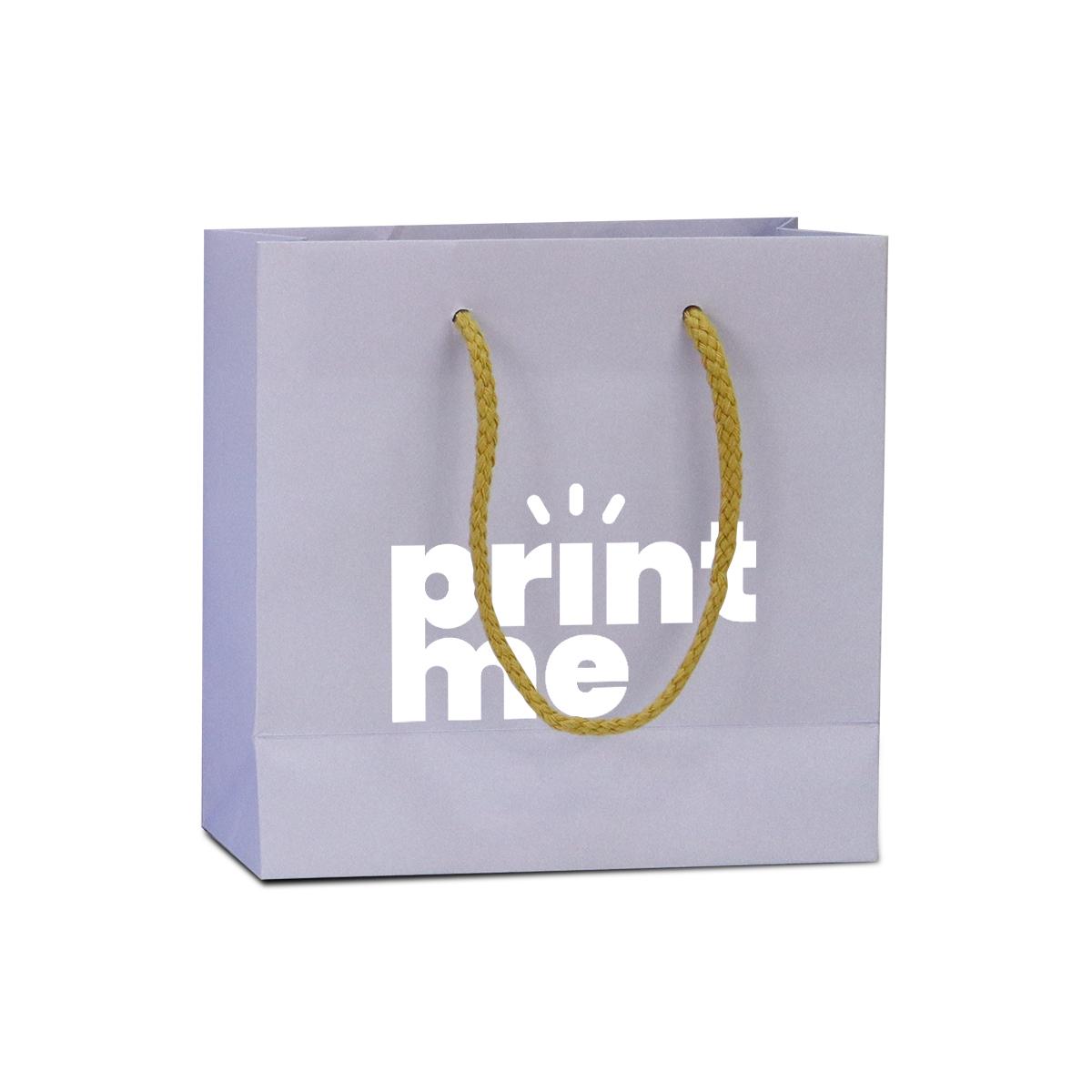 Luxe papieren tassen - Lila paars kraft
