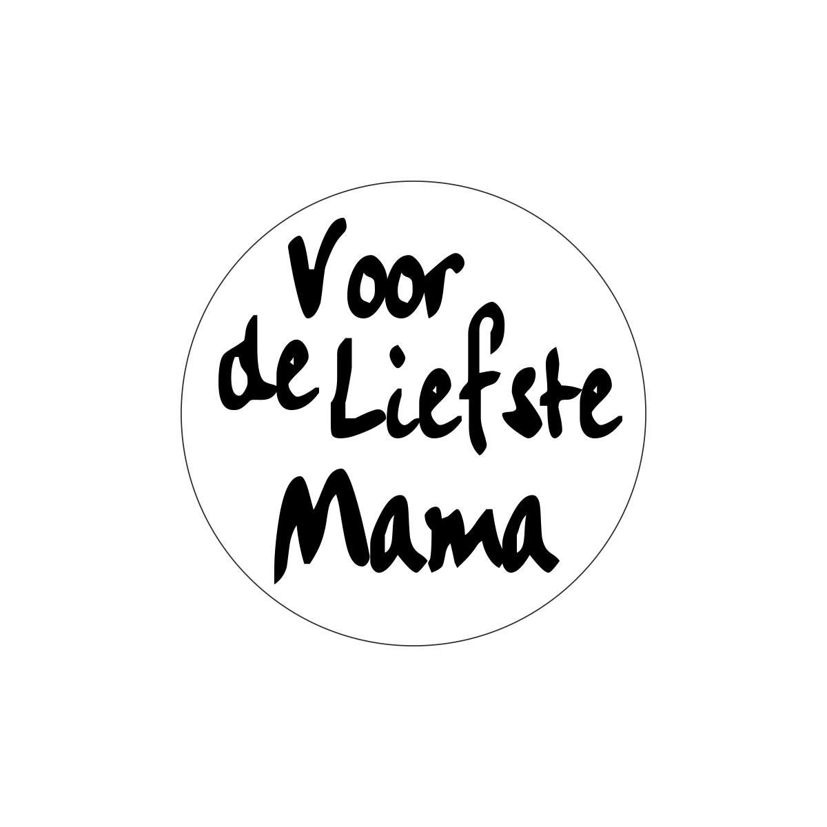 Etiketten - Voor de liefste mama