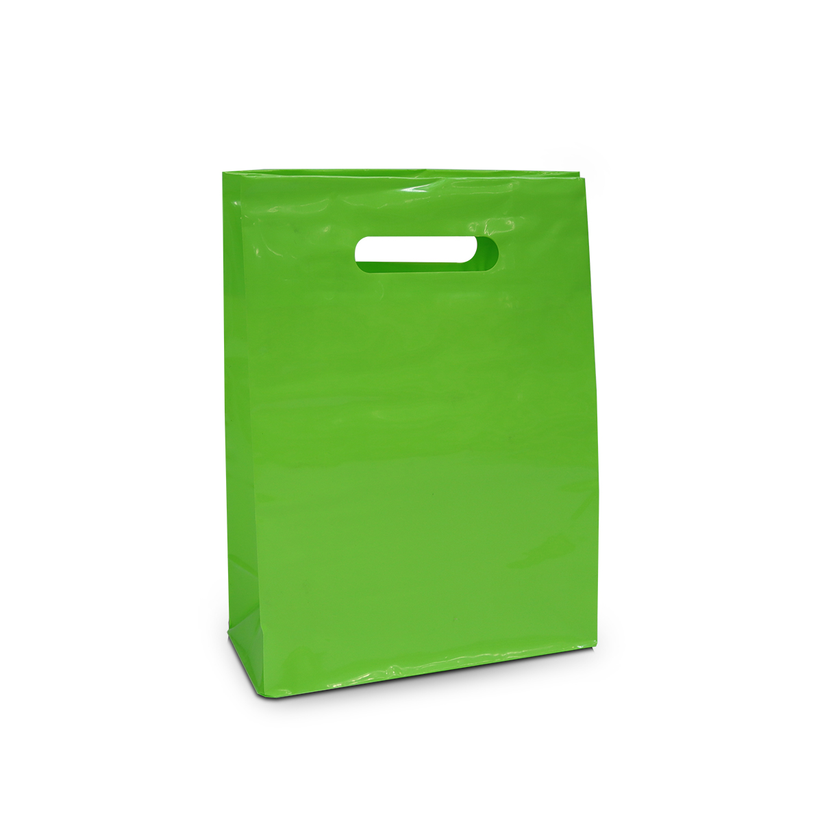 Plastic helder clear tassen met blokbodem