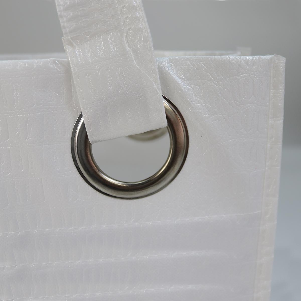 Luxe non-woven croco tas met eyelets