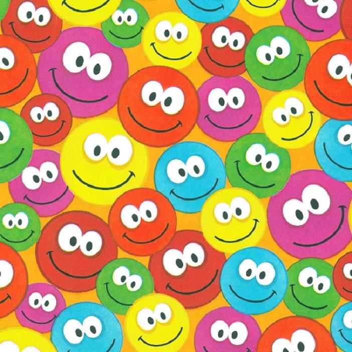Coated inpakpapier - Smiley dessin