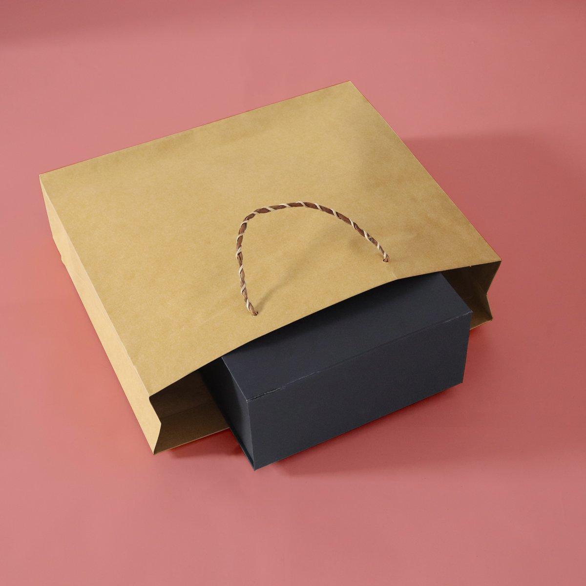 Luxe gerecyclede papieren tassen met banana koorden