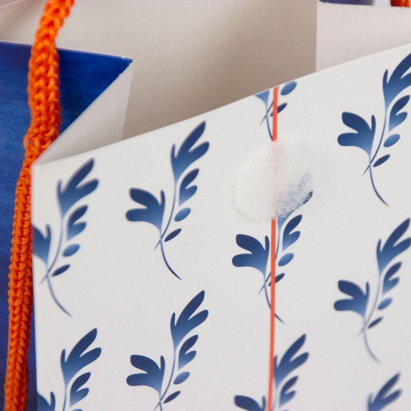Papierentas-paperbag-Heienendelftsblauw-detail